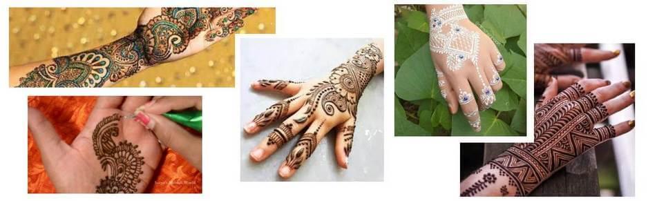 dessin avec cône de henné prêt a l'emploi