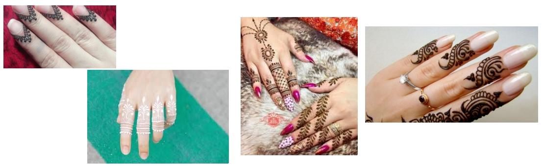 henné sur le bout des doigts